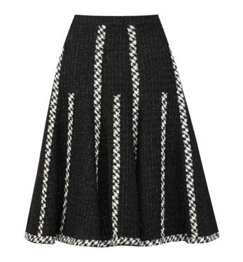Oscar de la Renta - Wool-blend skirt