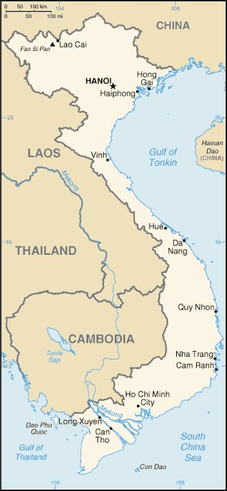Country Maps: Vietnam Map