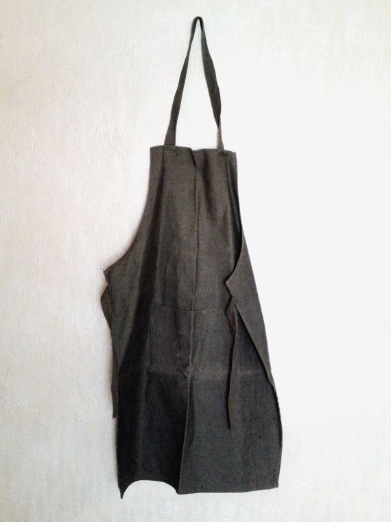 Vintage canvas apron soviet green waxed apron by PetarsVintage,