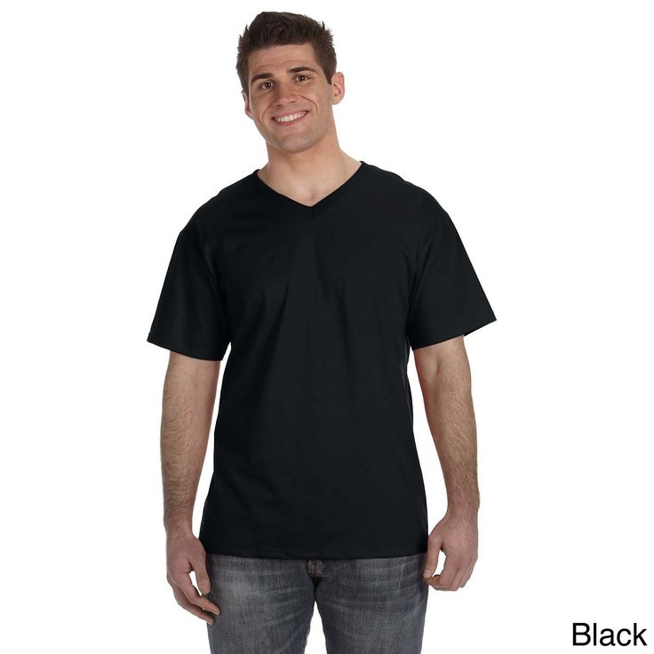 Fruit of the Loom Men's Heavyweight V-neck T-shirt