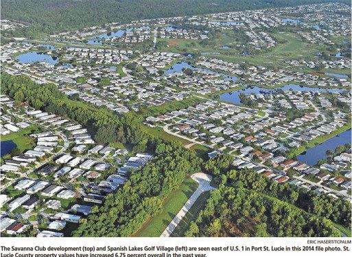 Property values show boost of 10.25 percent in Port St. Lucie   SHAPING OUR FUTURE Property values show boost of 10.25 percent in Port St. Lucie     Increase attributed to rise in construction projects in area KEONA GARDNER KEONA.GARDNER@TCPALM.COM ST. LUCIE COUNTY — Property values countywide are up 6.75 percent this year from last year, according to...
