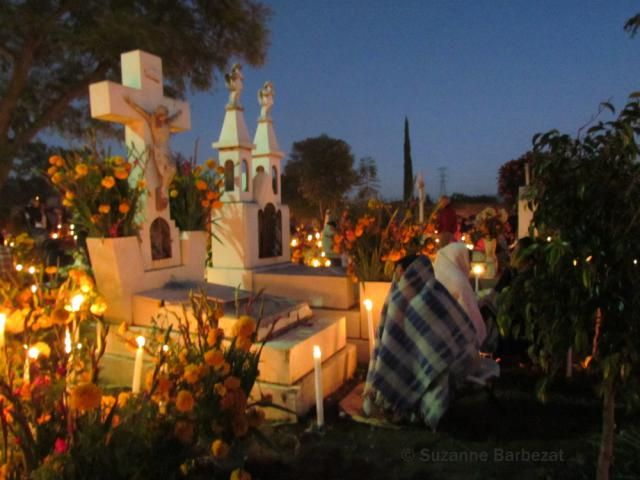 Day of the Dead (called Día de los Muertos in Spanish), is a Mexican holiday in which families remember their dead, place altars in their homes and decorate tombs in cemeteries.