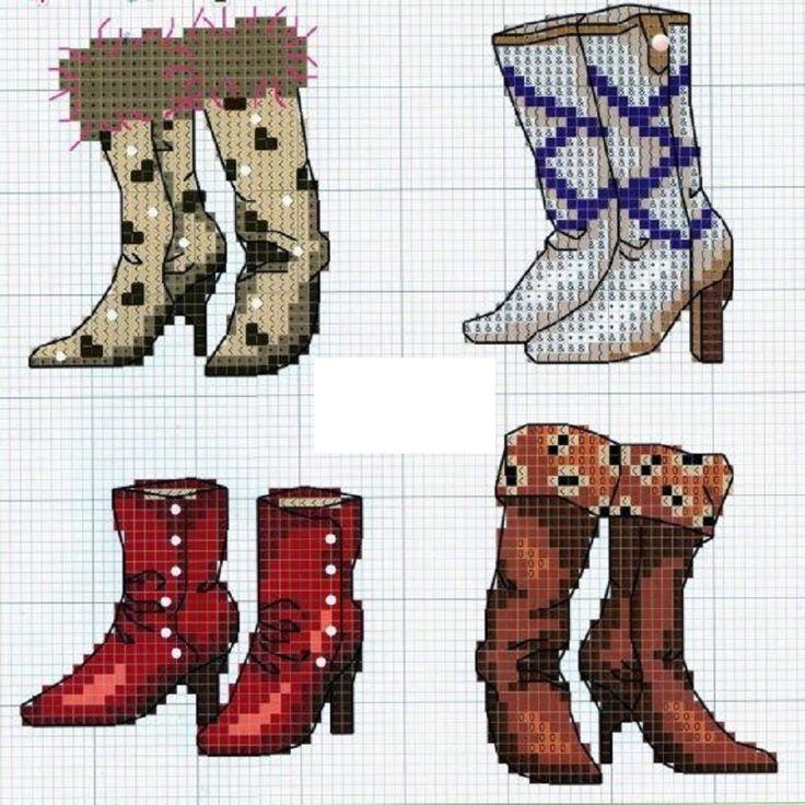 Обувь ... схемы для вышивки крестом
