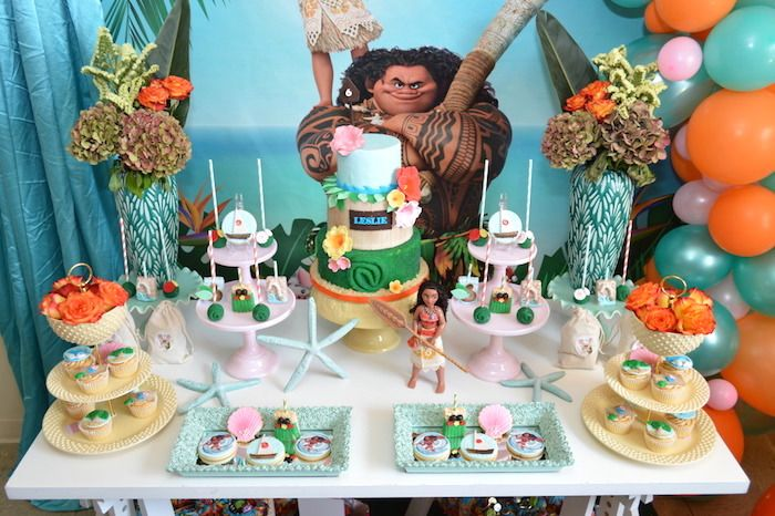 Chic Moana Birthday Party Moana Birthday Party Moana Themed