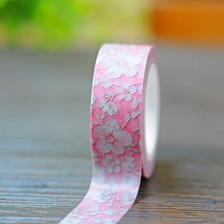 ew 1x Kawaii Love Series Pink Lace/Foral Patterned Japanese Washi Paper DIY Decorative Masking Tape ,15mm*5m, for Scrapbooking
