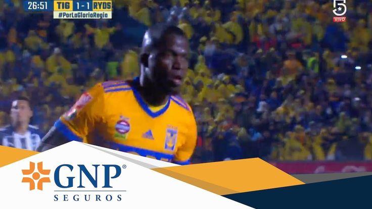 Gol de Enner Valencia | Tigres 1 - 1 Monterrey | Final ida A17 | Present...