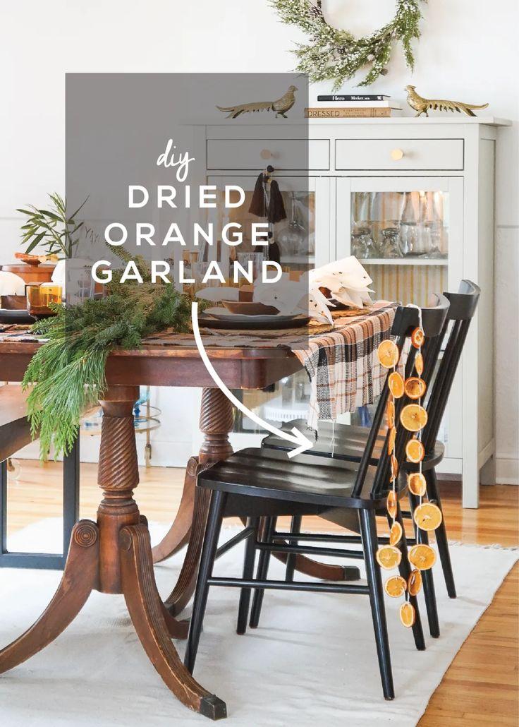 How to Make Dried Orange Garland Francois et Moi