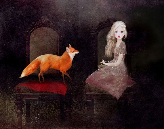 Dark fairytale dream art fairytale art 10x8 by artandghostsprints