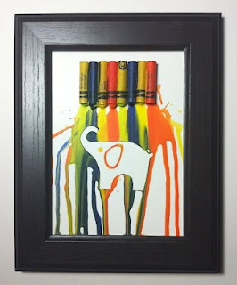 melted crayon art to do with the kids