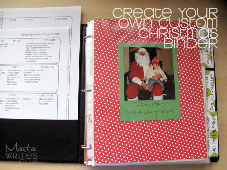 marta writes: how-to survive christmas: create your own organizer: Survival Christmas, Marta Writing, Custom Christmas, Christmaswint Crafts, Christmas Planners, Christmas Decor, Christmas Organizations, Christmas Binder, Christmas Projects