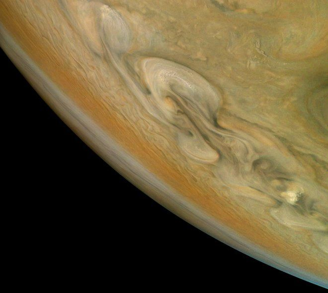Citizen scientist Björn Jónsson processed this photo of Jupiter using data gathered by the JunoCam imager aboard NASA's Juno spacecraft on Dec. 16, 2017. Credit: Björn Jónsson/NASA/JPL-Caltech/SwRI/MSSS