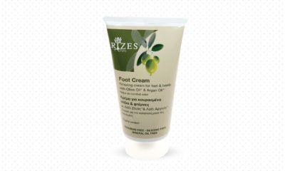 Ontspannende crème voor de voeten en hielen met olijfolie en Argan olie.