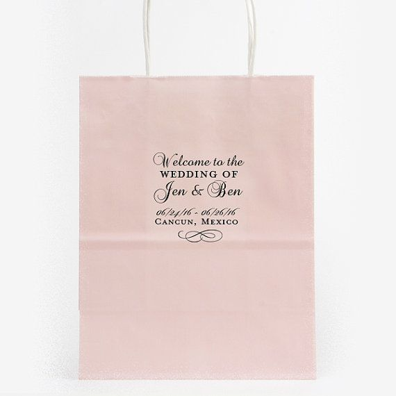 Wedding Welcome Bags Hotel Personalized Foil by MemorableWedding