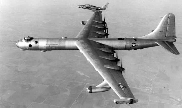 Convair B-36 Peacemaker bomber (also known as the aluminum overcast since it was so huge).