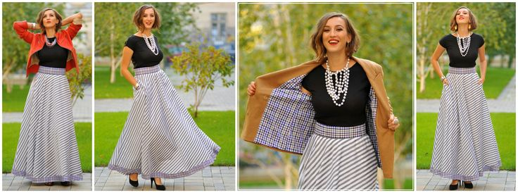 Pearls and diamonds are yet a girls best friend! But a long skirt will do until all the others are in place. L<3VE this versatile creation that fits any occasion!
