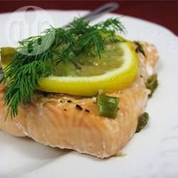 Garlic and Dill Steamed Salmon