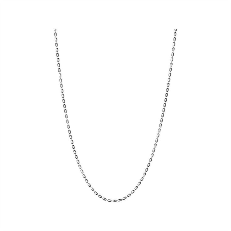 "Links of London Womens Essentials Oval Ball Chain 18"" Necklace Silver  