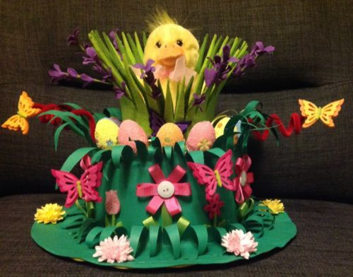 Easter Bonnet —  Chick Garden  (500x392)