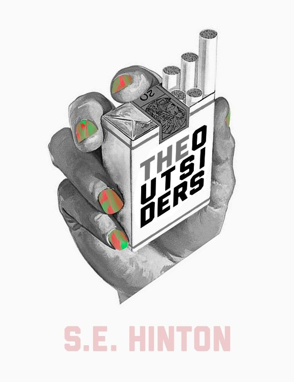 S.E. Hinton, The Outsiders recovered by Cory Bujnowics