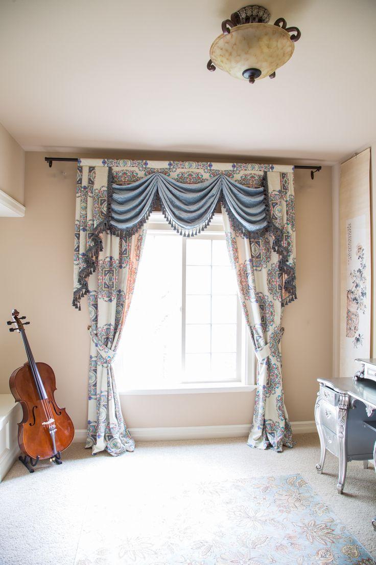 Bedroom valance curtains - Kaleidoscope Off White Swag On Pelmet Valance Curtain Set