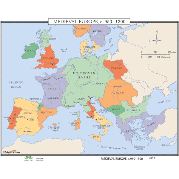 Medieval European Geography | Medieval Europe Geography by Stephanus ...