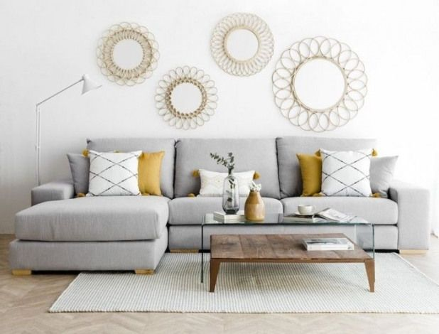 Pin By Stacey Wayne On Living Room Decor In 2020 Sofa Gris Yellow Decor Living Room Decor