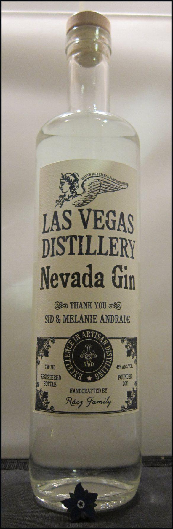 A bottle of gin distilled in Las Vegas