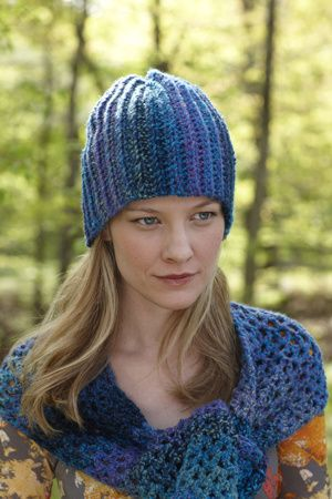 Great hat pattern and great yarn. One of my favorites. http://www.lionbrand.com/patterns/L0079AD.html?noImages=