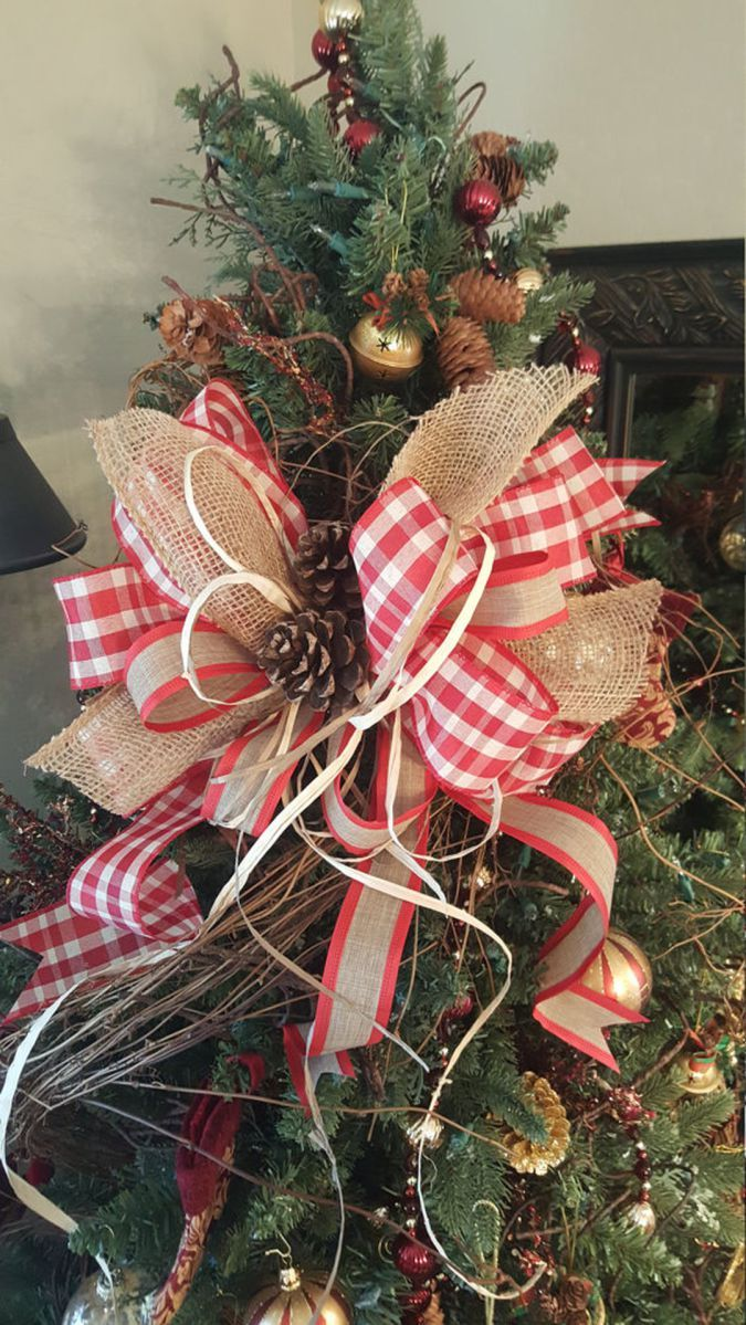 2017 Beautifully Christmas Tree Topper Ideas 02 Decomagz Christmas Tree Bows Christmas Tree Toppers Christmas Tree Topper Bow