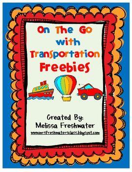 Free!! Transportation related printables!: Transportation Theme, Classroom Freebies, Preschool Transportation, Mcdonald'S, Kindergarten Transportation, Mcdonalds, Transportation Freebies, Freebies Transportation Unit