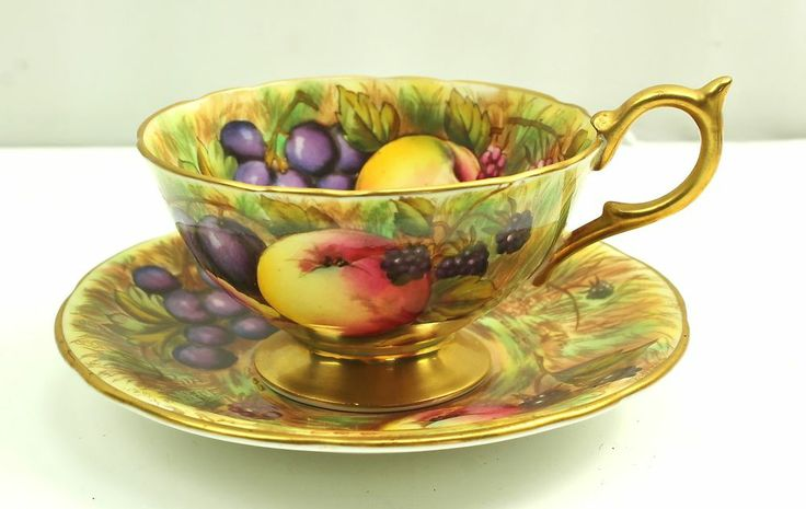 Footed Cake Plate Cups And Saucer Set