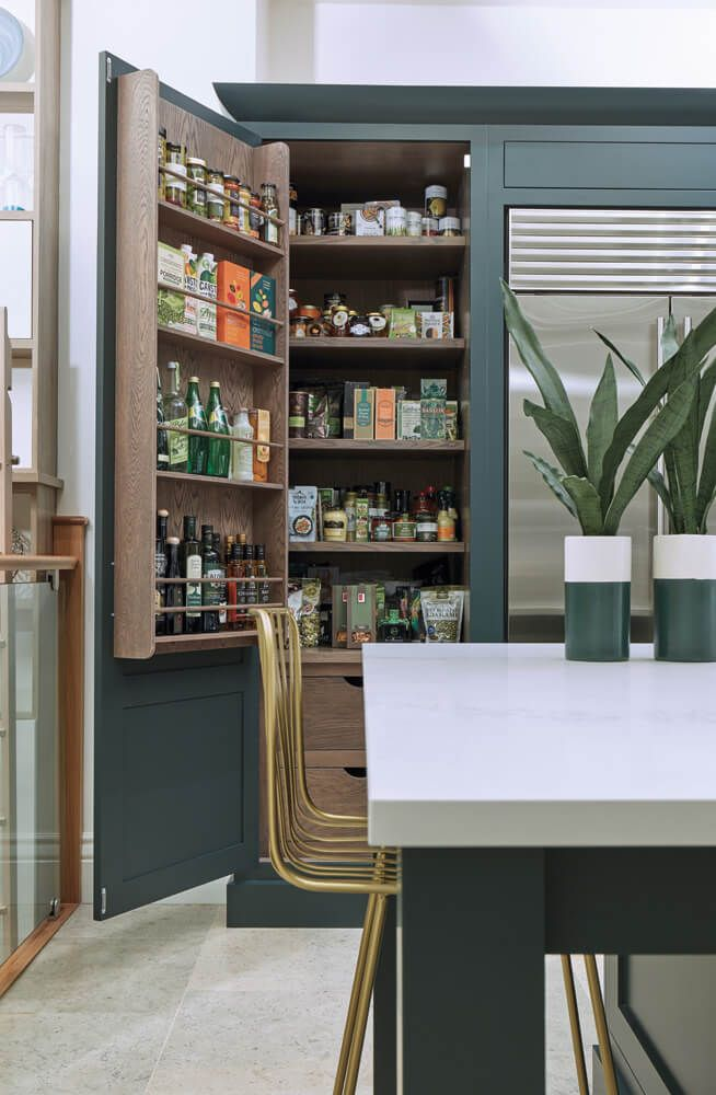 appealing light green shaker kitchen | Dark Green Shaker Style Kitchen in 2019 | Shaker style ...