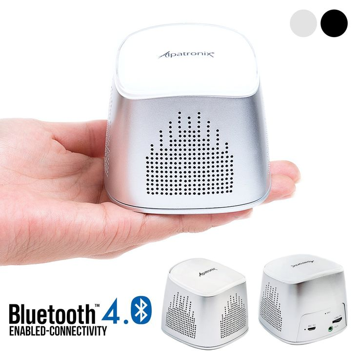 Bluetooth Speaker, Alpatronix AX310 Ultra-Portable Mini Bluetooth Wireless Rechargeable Speaker with Mic, Volume/Playback Controls & Passive Subwoofer for Smartphones, Tablets & Computers - (Silver). Full High Clarity Sound - Don't let its miniature size fool you, this mini cube speaker packs a punch with an impressive 5 watt audio driver and passive subwoofer to provide enhanced bass. 10+ Hours of Playback Time - Built-in rechargeable battery provides long-lasting, quick-charging power…