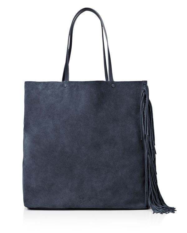 With its lightweight, unlined construction, Allsaints' buttery suede tote is an…