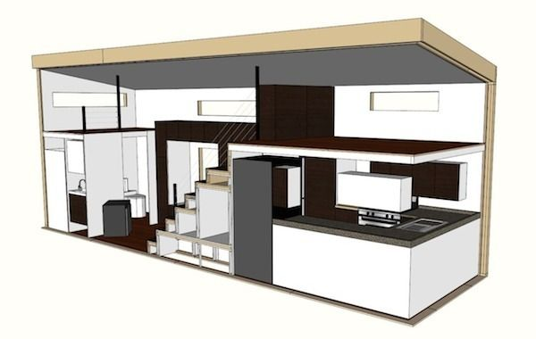 Tiny Home Designs: HOMe, A Tiny Mobile Home On Wheels