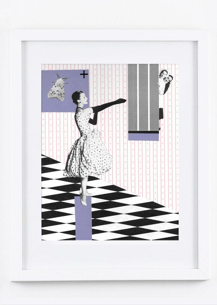 Lady by Kinga Berkowska; collage papercuting