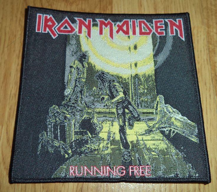 Iron Maiden - Running Free PATCH Judas Priest Dio Black Sabbath Ozzy Metallica
