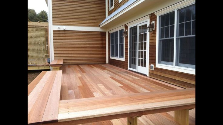 Deck benches mahogany Stowe Vermont