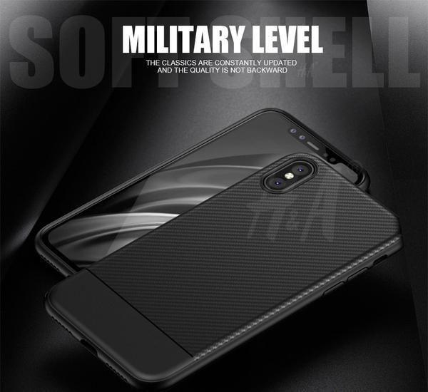 Iphone X Carbon Fiber Anti Knock Case Carbon Fiber Iphone Iphone Cases