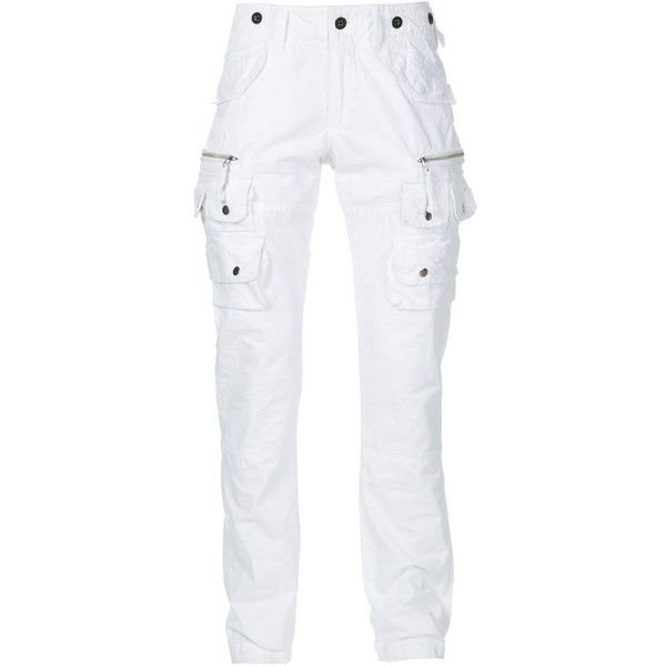 Prps cargo trousers ($365) ❤ liked on Polyvore featuring men's fashion, men's clothing, men's pants, men's casual pants, white, mens white cotton pants, mens white cargo pants, mens cotton pants, mens white pants and mens cargo pants