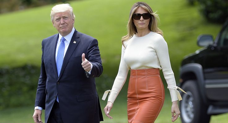 Melania Trump - cute skirt
