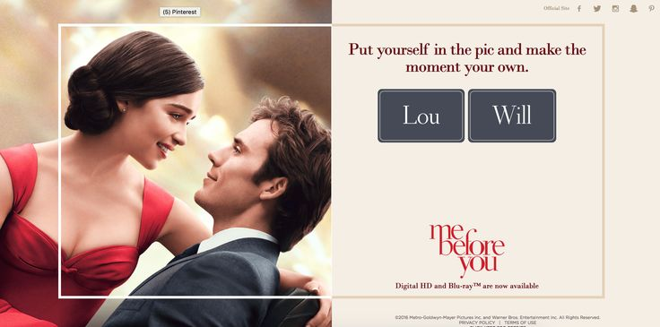 Me before you #Poster creator