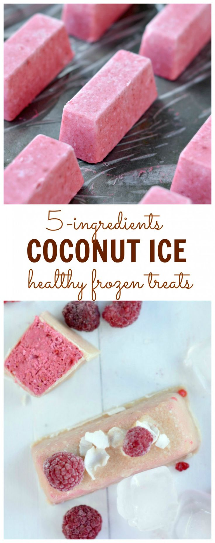 An healthy dairy free coconut ice bar with no refined sugar. Easy 5 ingredients ice cream with no ice cream maker needed.