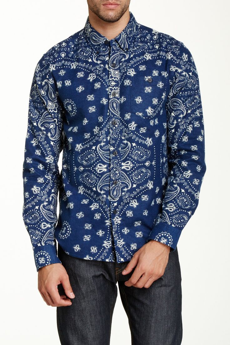 Burkman Bros Tab Pocket Bandana Print Shirt by Burkman Bros on @HauteLook