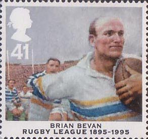 Centenary of Rugby League 41p Stamp (1995) Brian Bevan