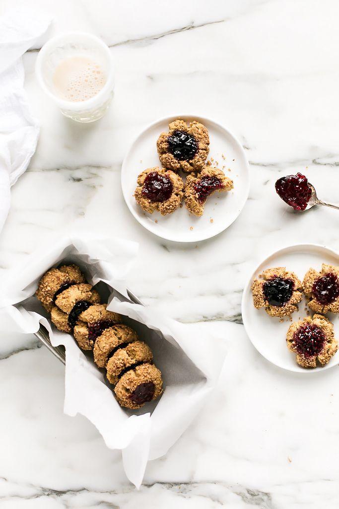Vegan & Gluten-Free Holiday Thumbprint Cookies