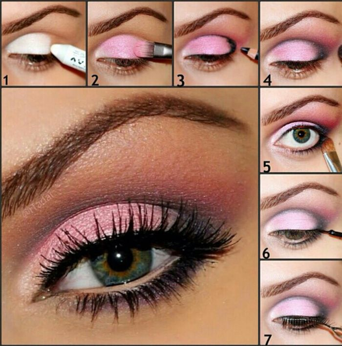 Tolles Make Up Tutorial in Pink