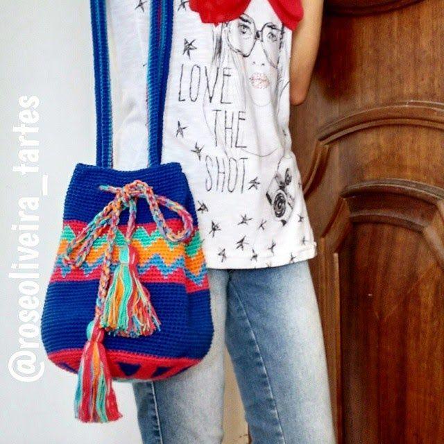Tecendo Artes em Crochet: Minha Segunda Wayuu Bag !