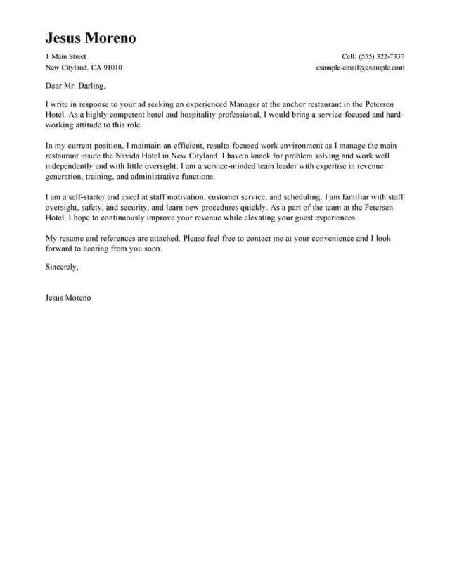 25 Best Cover Letters Cover Letter Examples For Job Cover