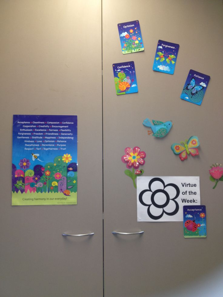 An amazing music teacher has the Harmony Cards for Kids and the Harmony Poster featured in her room to encourage the children to practice the value of the week at their school.